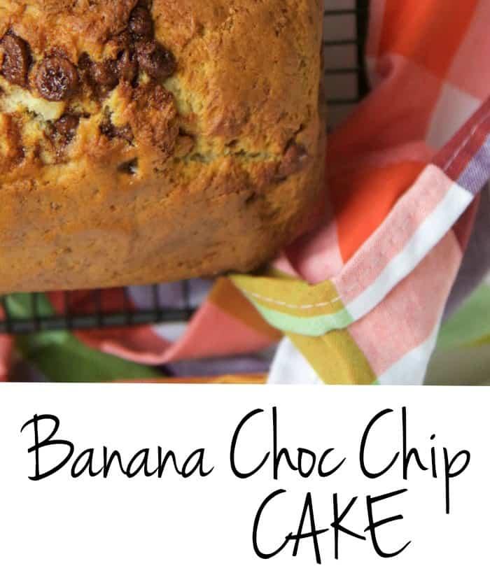 banana choc chip cake