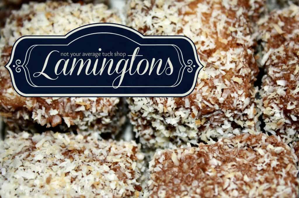 lamingtons, australian food, old fashioned recipes, coconut, cake, baking