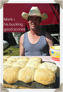 Gympie Muster -Mark and his bucking good scones
