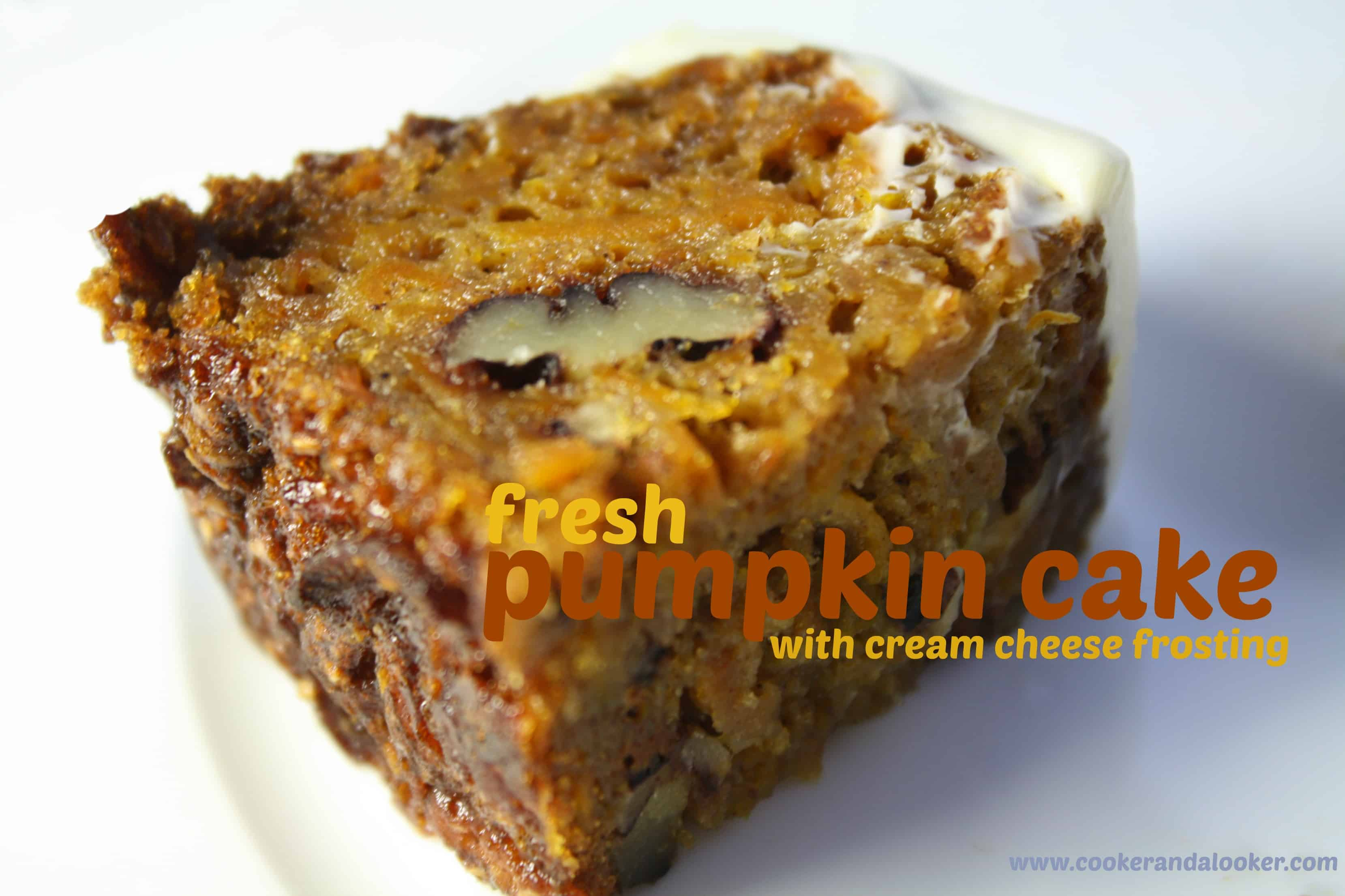 pumpkin cake + my knight in shining pie tin - Cooker and a Looker
