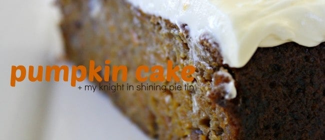 fresh pumpkin cake with cream cheese frosting