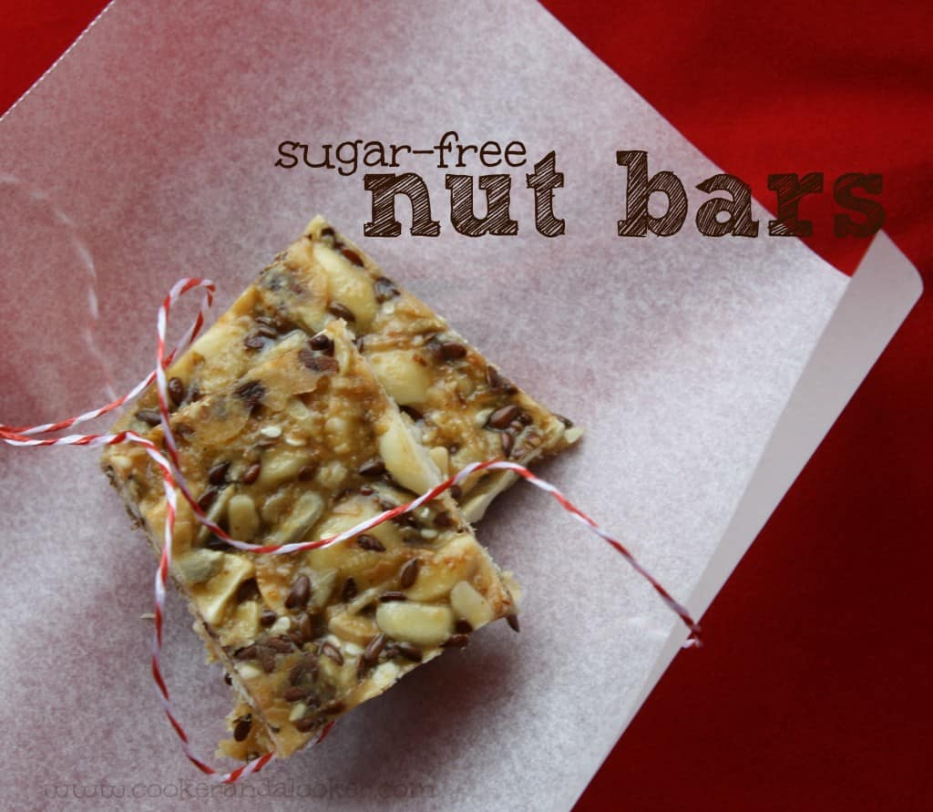 sugar free nut bars from cooker and a looker