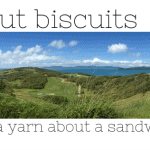 simple coconut biscuits + a yarn about a sandwich