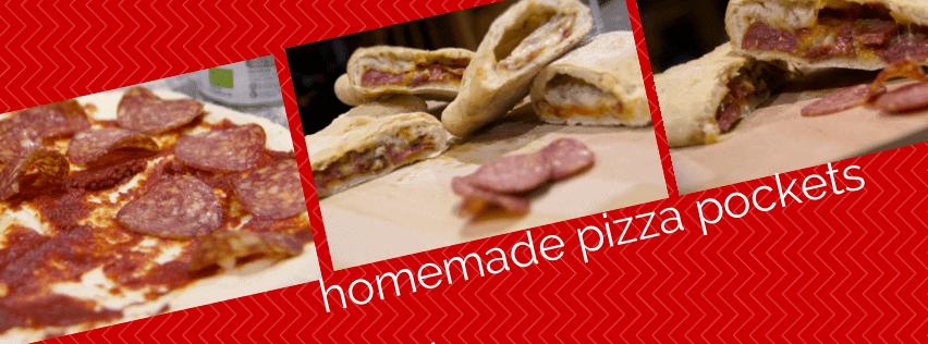 homemade pizza pockets