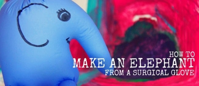 how to make an elephant from a surgical glove