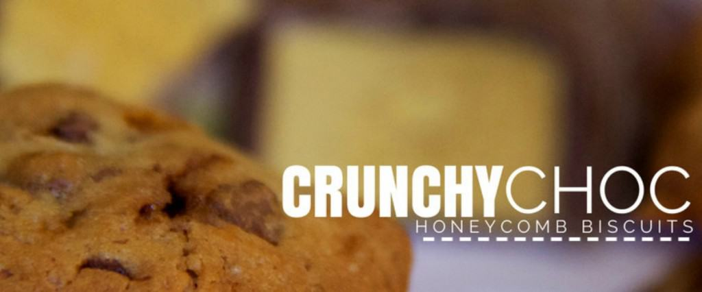 crunchy choc honeycomb biscuits