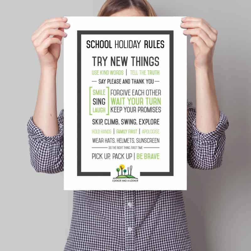 school holiday rules {free printable}