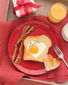 heart shaped egg for breakfast