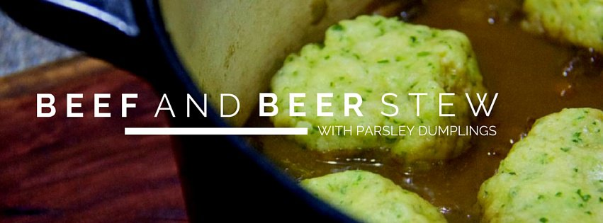 beef and beer stew with parsley dumplings | the good, the yum & the ugly