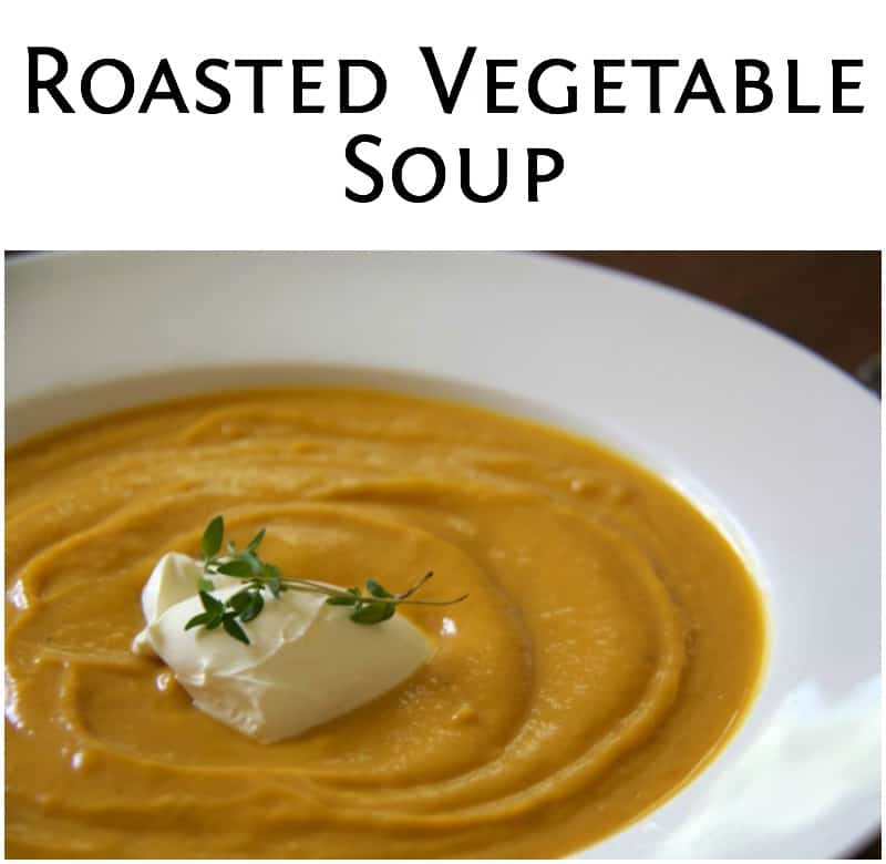 roasted vegetable soup - Cooker and a Looker