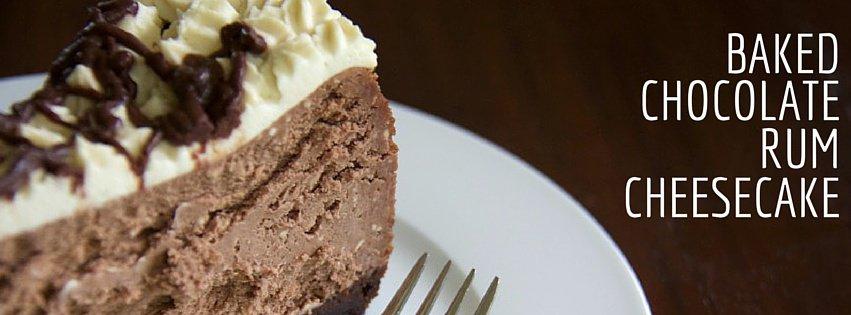 baked chocolate rum cheesecake