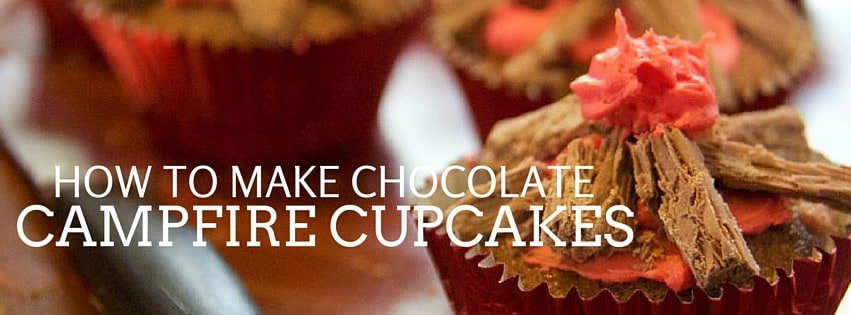 how to make chocolate campfire cupcakes
