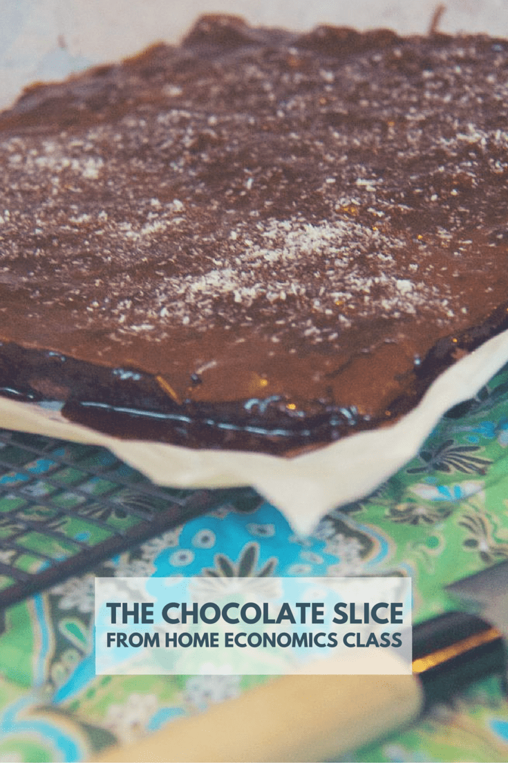 If you can remember a time when golden daytime only came on a stick, then chances are you'll remember the chocolate slice from home economics class.  It's still as tasty (and easy) 25 years on!