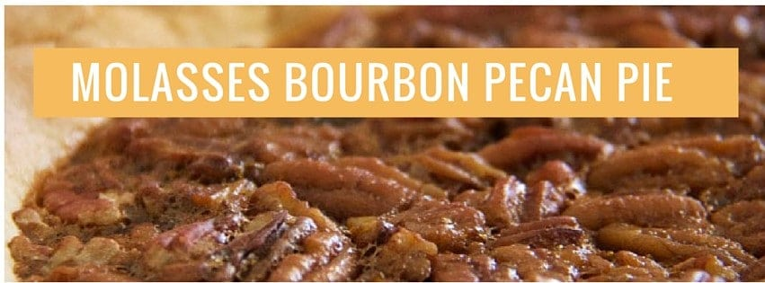 molasses bourbon pecan pie