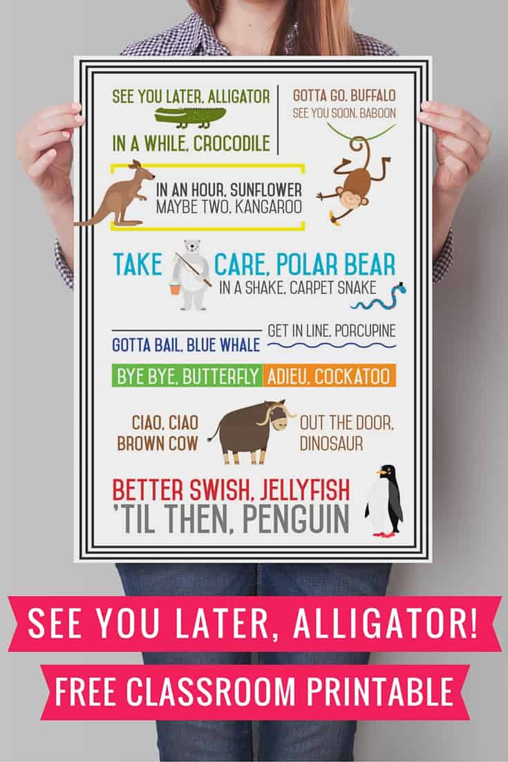 See You Later Alligator Free Printable Cooker And A Looker