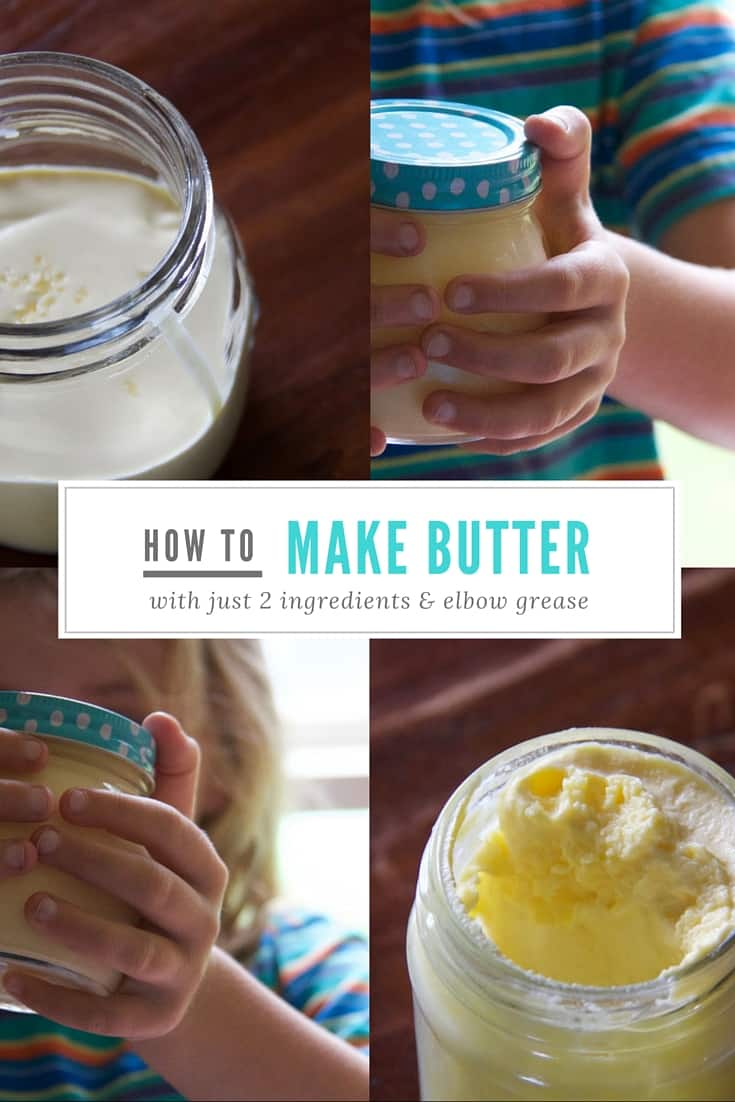 Want to teach kids about where food comes from? Start with how to make butter - it's easy plus it takes just two ingredients and a bit of elbow grease.