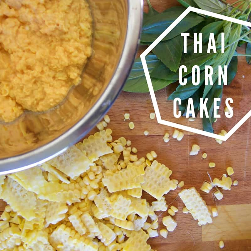 how to make thai corn cakes