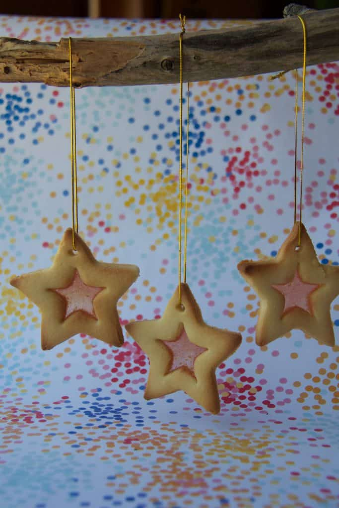 cathedral biscuits, stained glass window biscuits, christmas baking