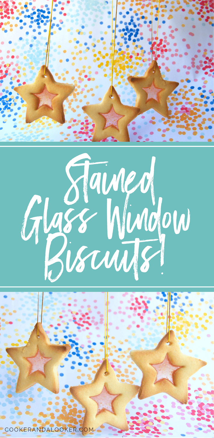 Stained glass window biscuits - a childhood Christmas classic!