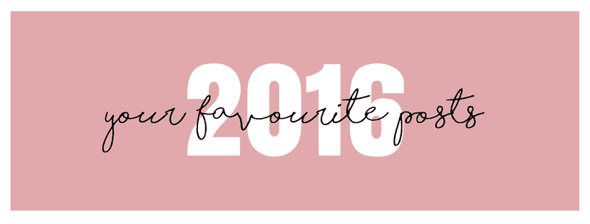 your favourite posts of 2016