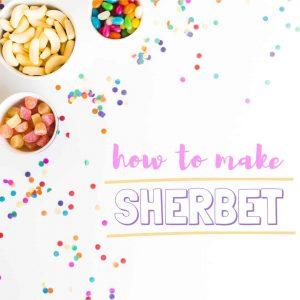 sherbet recipe, how to make sherbet