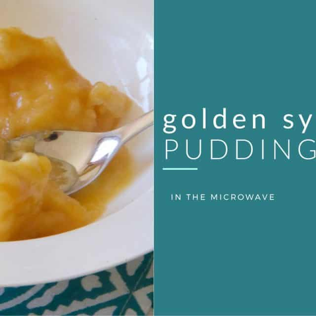 golden syrup pudding in the microwave
